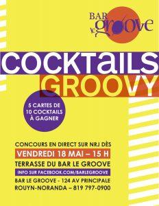 Affiche Cocktails Groovy - Graphisme