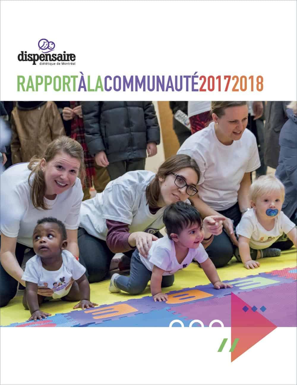 Graphisme du rapport annuel 2017-2018 du Dispensaire diététique de Montréal