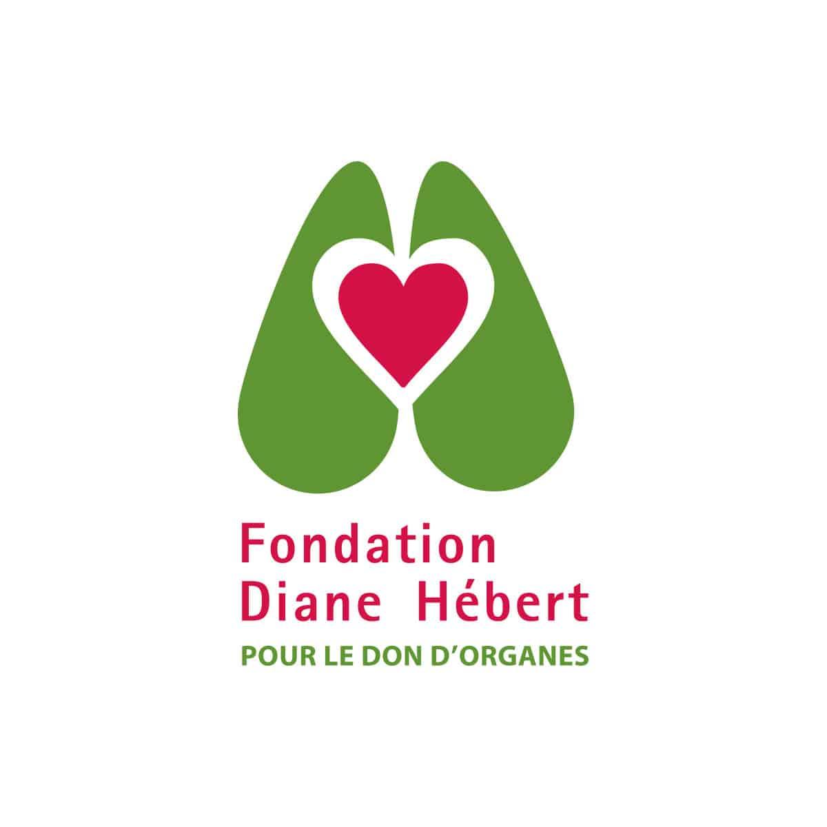 Logo Fondation Diane Hébert - Par Cyan Concept