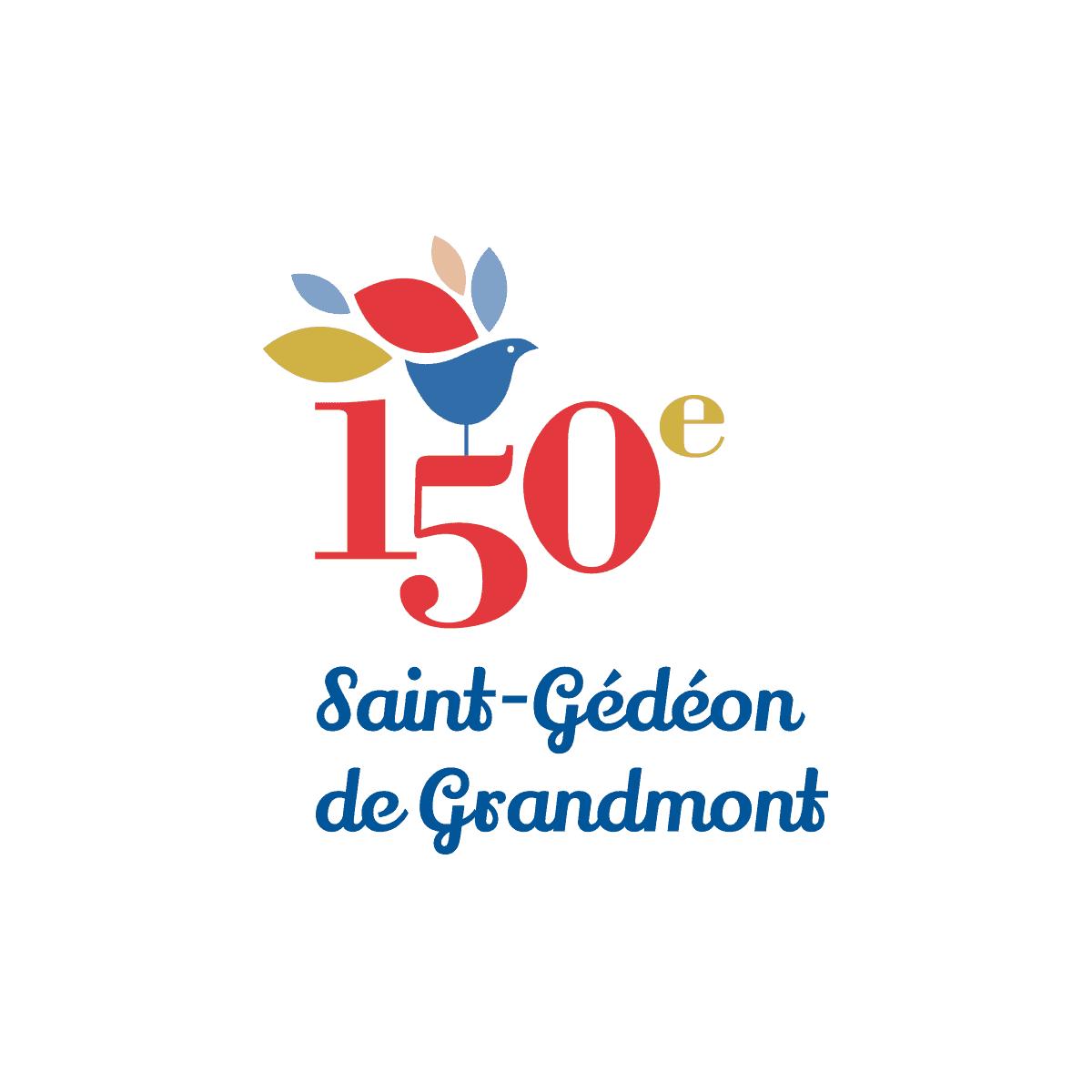 Logo 150e Saint-Gédéon de Grandmont - Par Cyan Concept