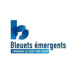 Logo Bleuets émergents - Par Cyan Concept