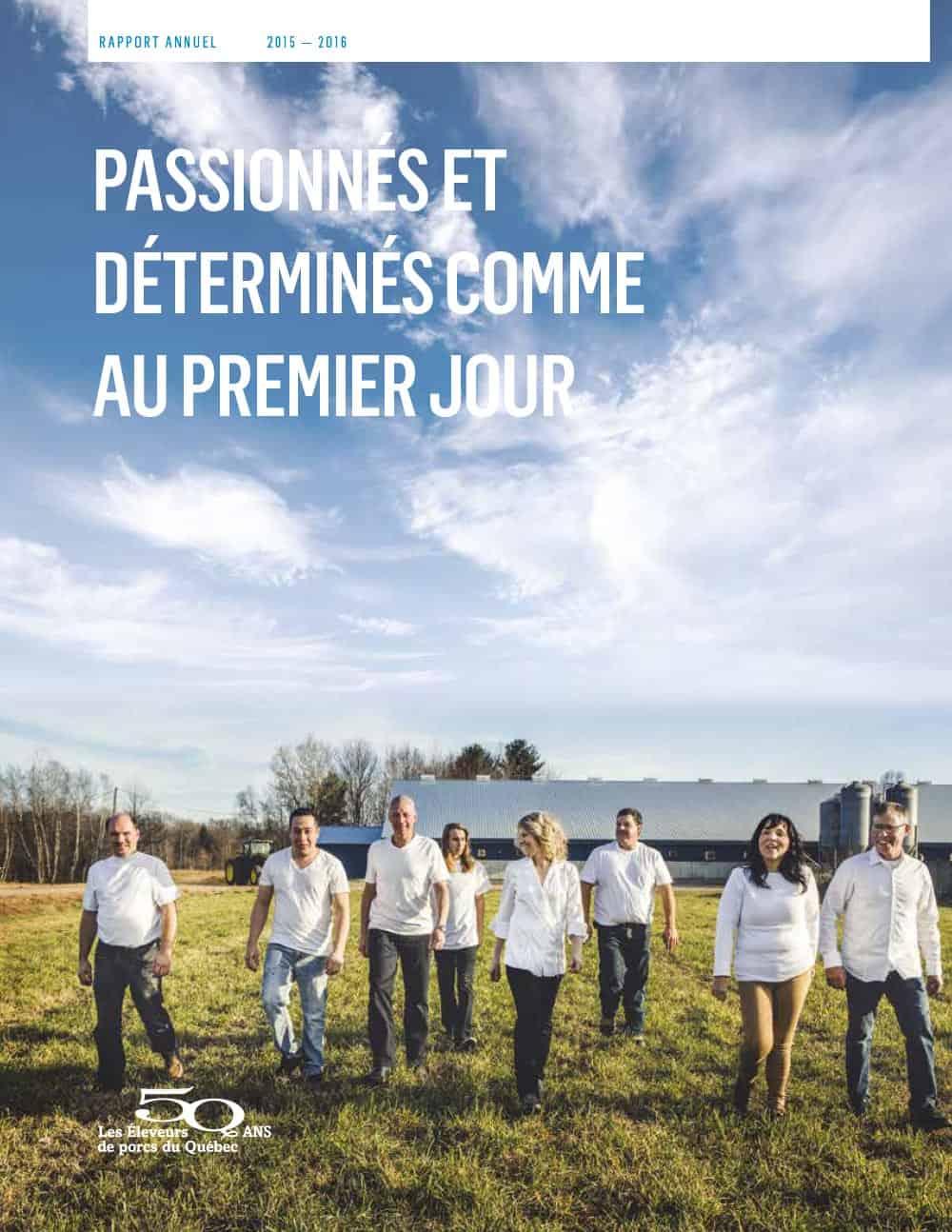 Graphisme du rapport annuel 2015-2016 des Éleveurs de porcs du Québec