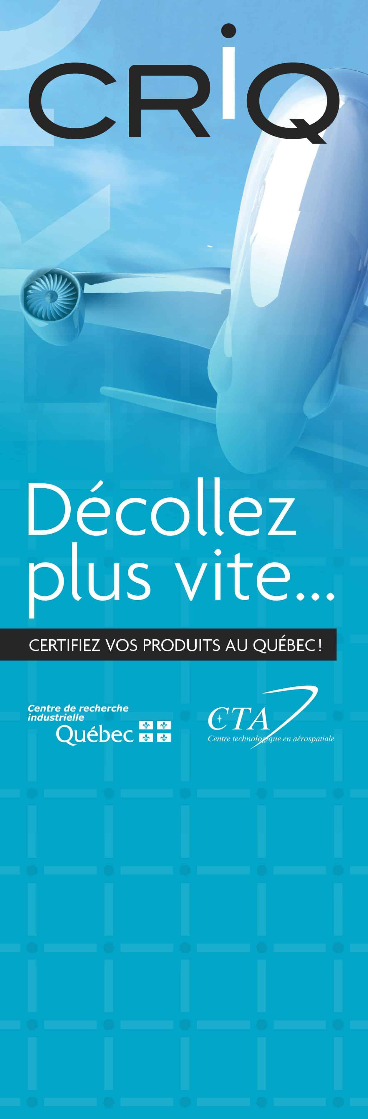 Graphisme d'une bannière pour le Centre de recherche industrielle du Québec