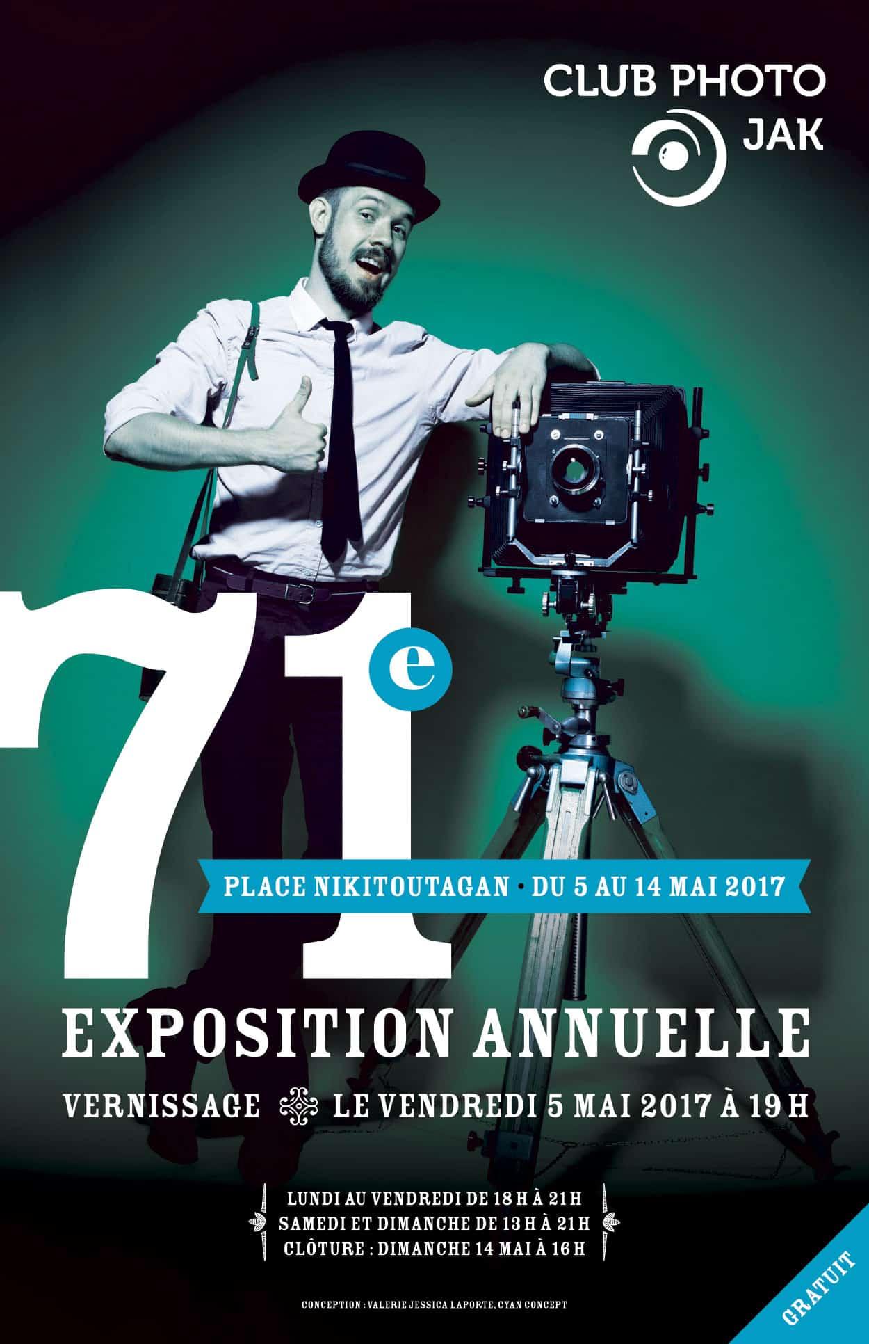 Affiche pour la 71e exposition annuelle