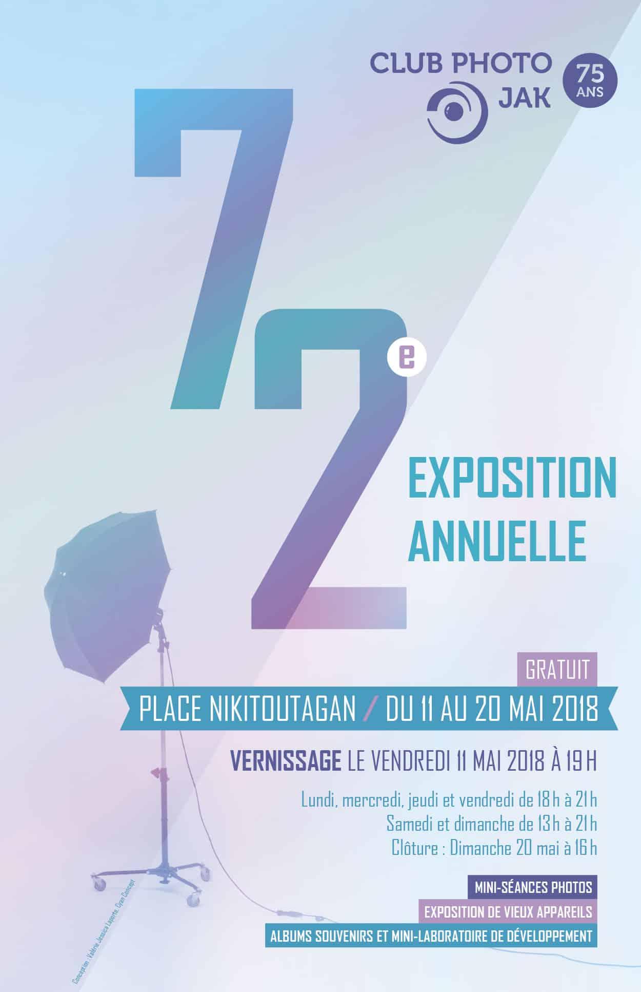 Affiche pour la 72e exposition annuelle