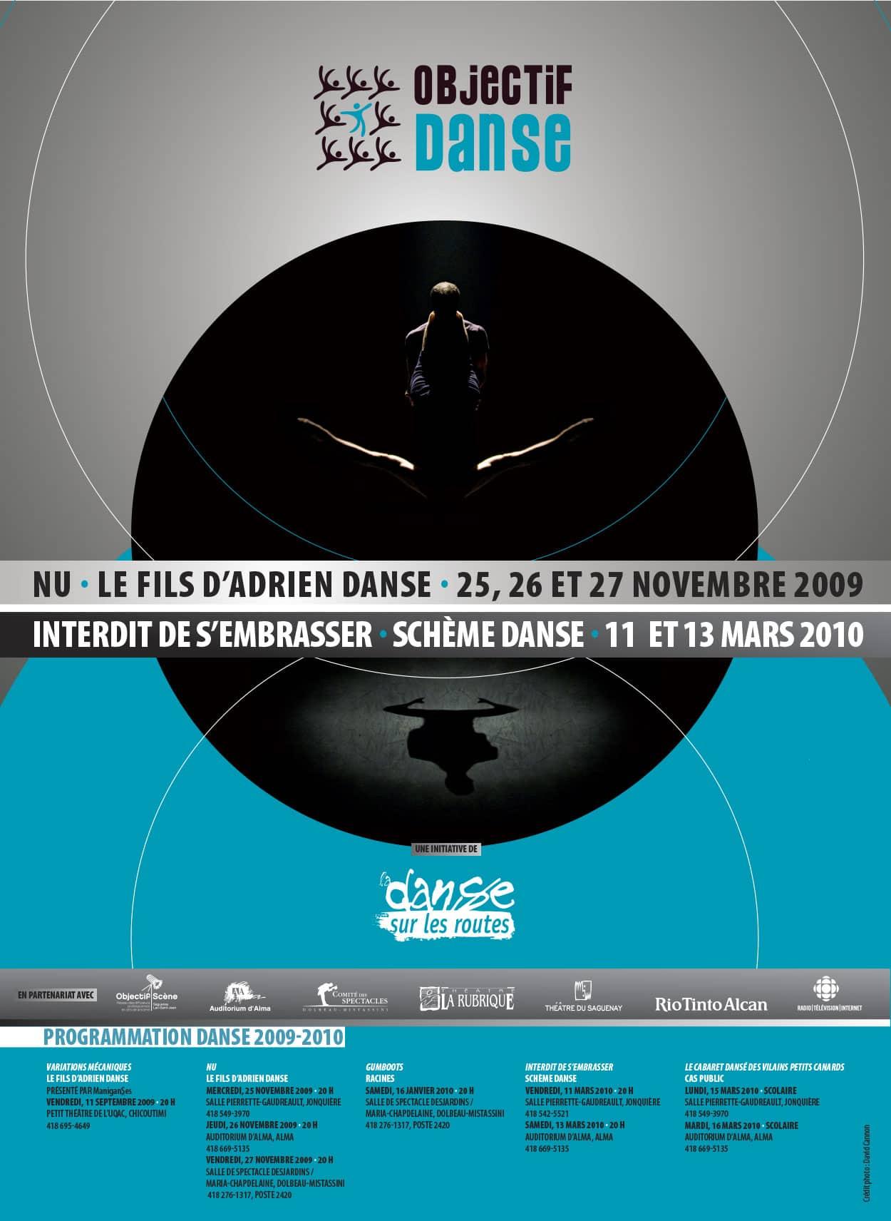 Affiche Objectif Danse - Graphisme