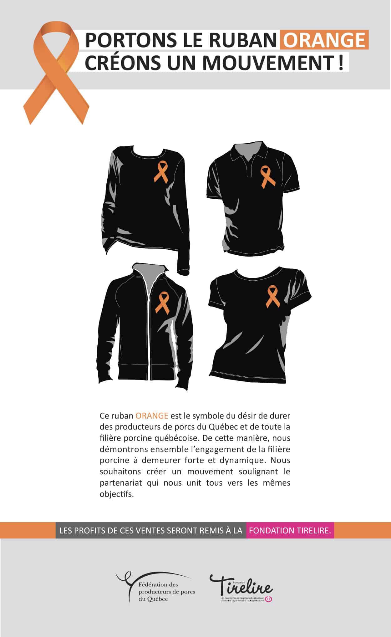 Affiche de la Fondation tirelire - ruban orange