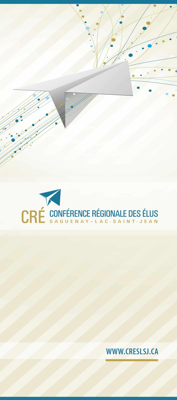 Bannière rétractable pour la Conférence régionaledesélusduSaguenay–Lac-Saint-Jean