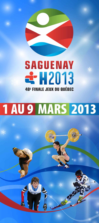 Affiche Jeux du Québec 2013
