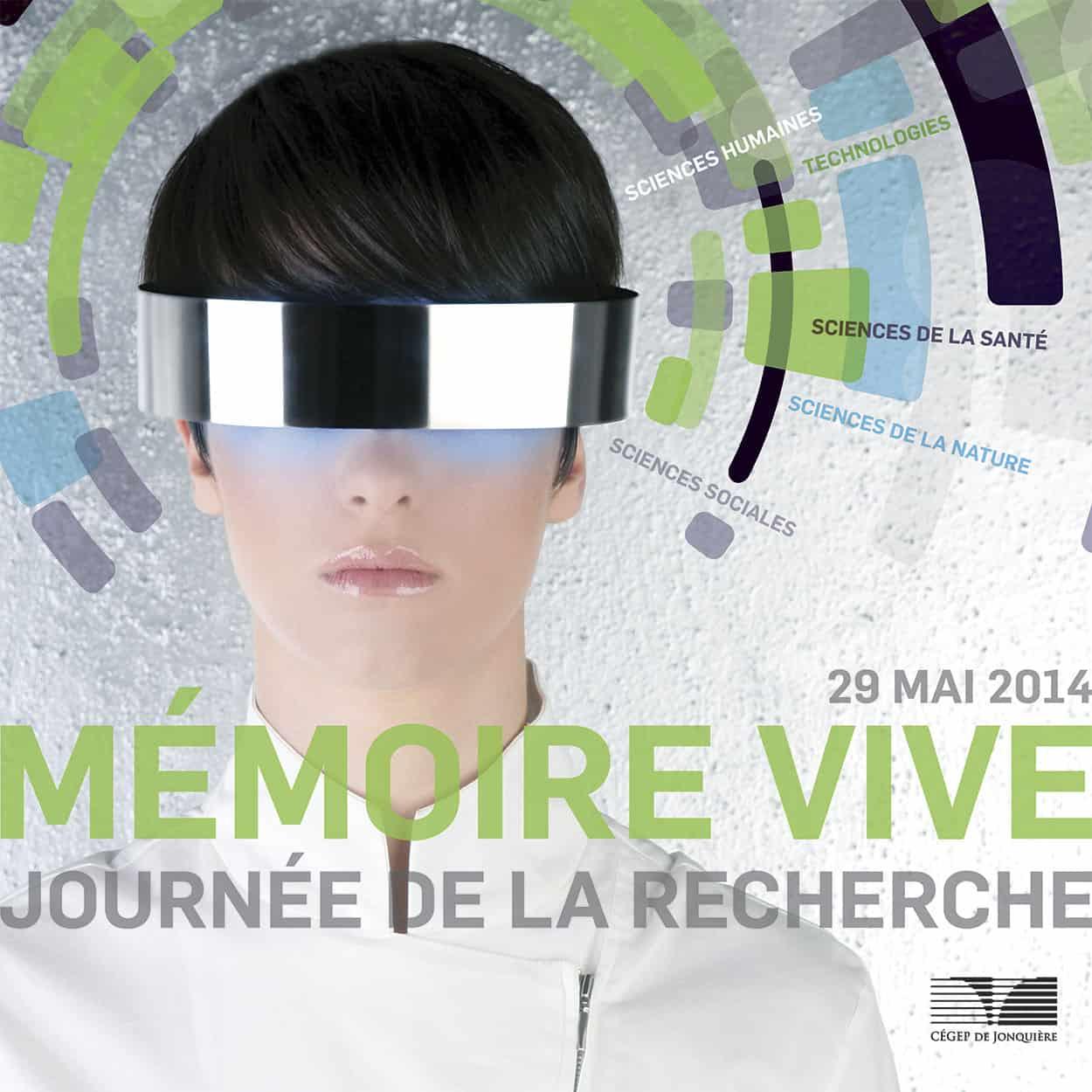 Affiche Mémoire Vive - Cégep de Jonquière