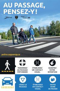 Saguenay traverses piétonnes - photo et concept
