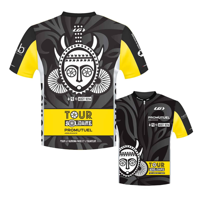 Maillot de vélo - graphisme - Cyan concept (Lac Saint-Jean à vélo)