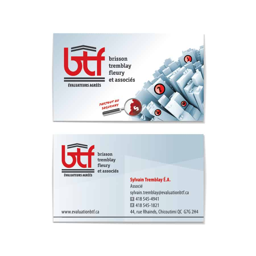 Carte d'affaires BTF