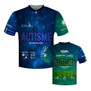 Maillot de vélo pour la cause de l'autisme - Fondation Jean-Allard