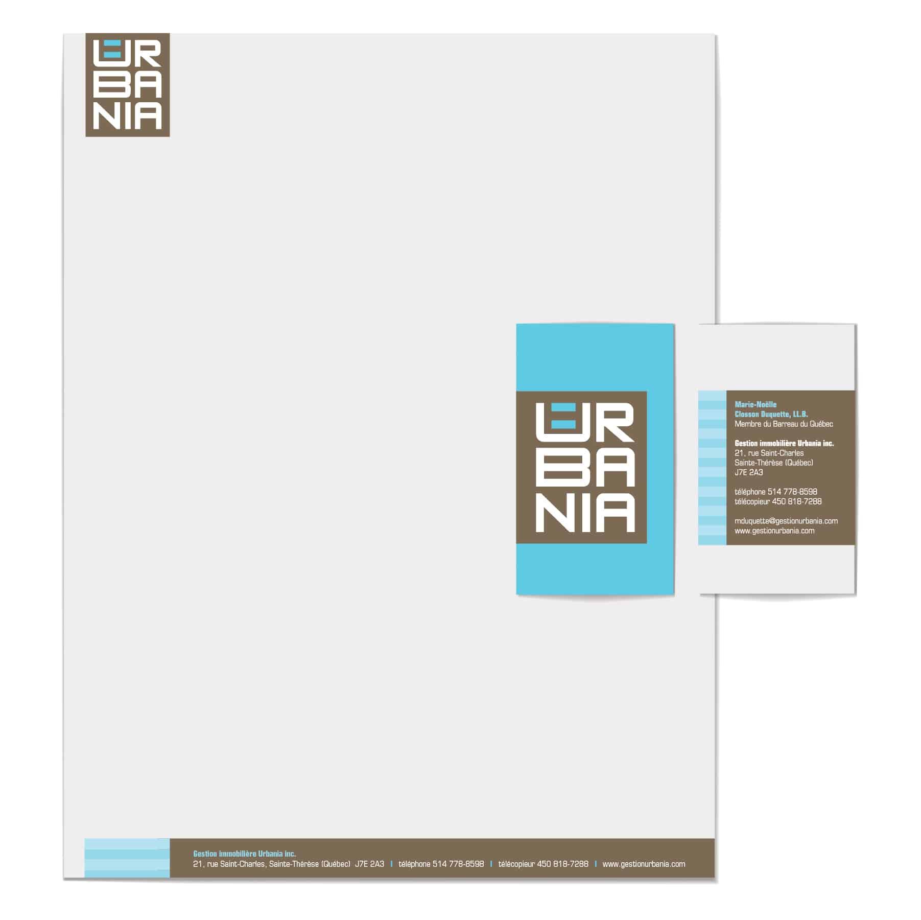Design graphique d'une papeterie par Cyan concept