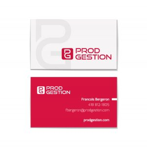 Design graphique - carte de visite - ProdGestion