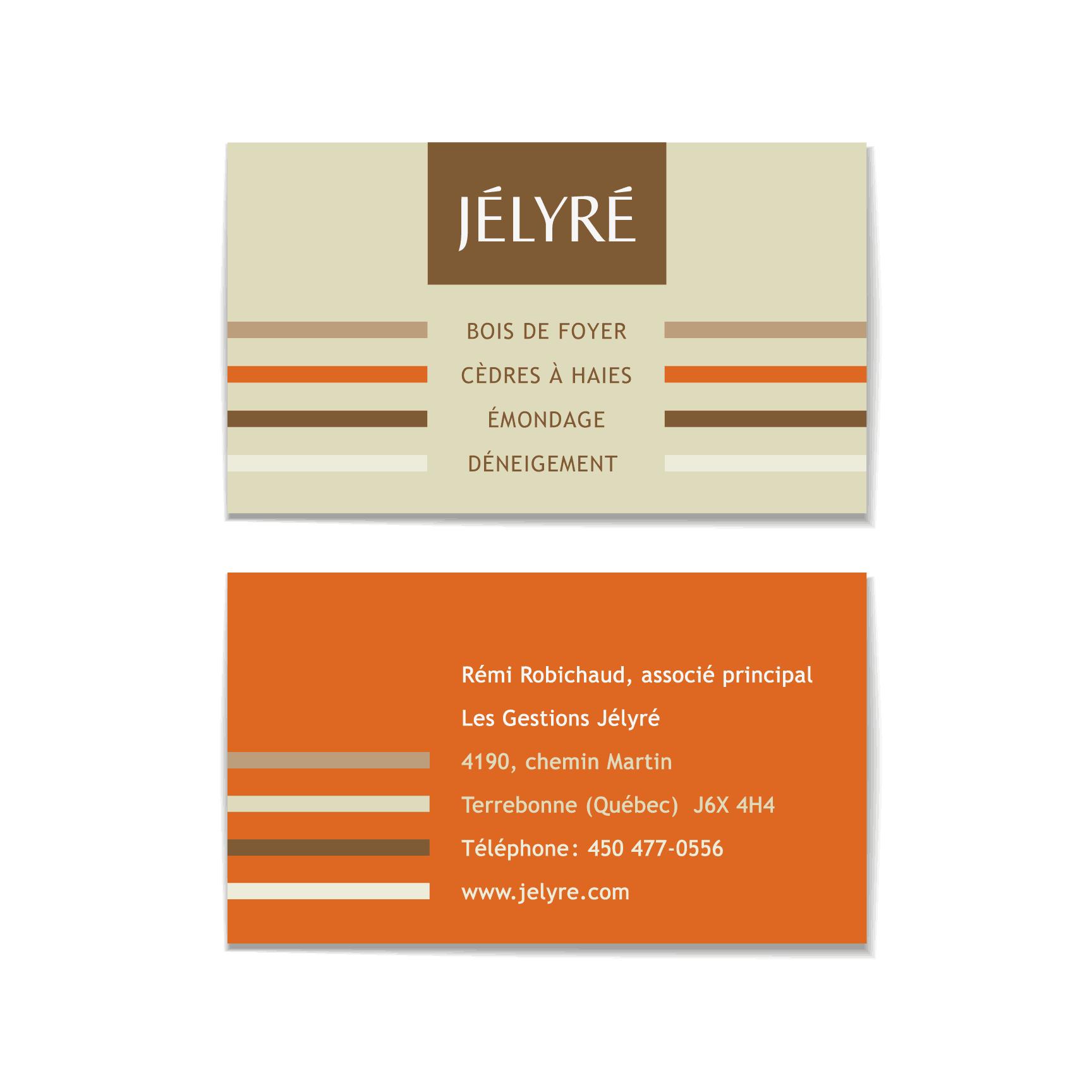 Design graphique - carte Jélyré