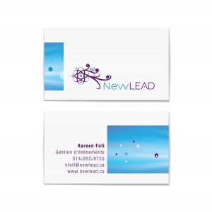 Design de carte professionnelle - Newlead