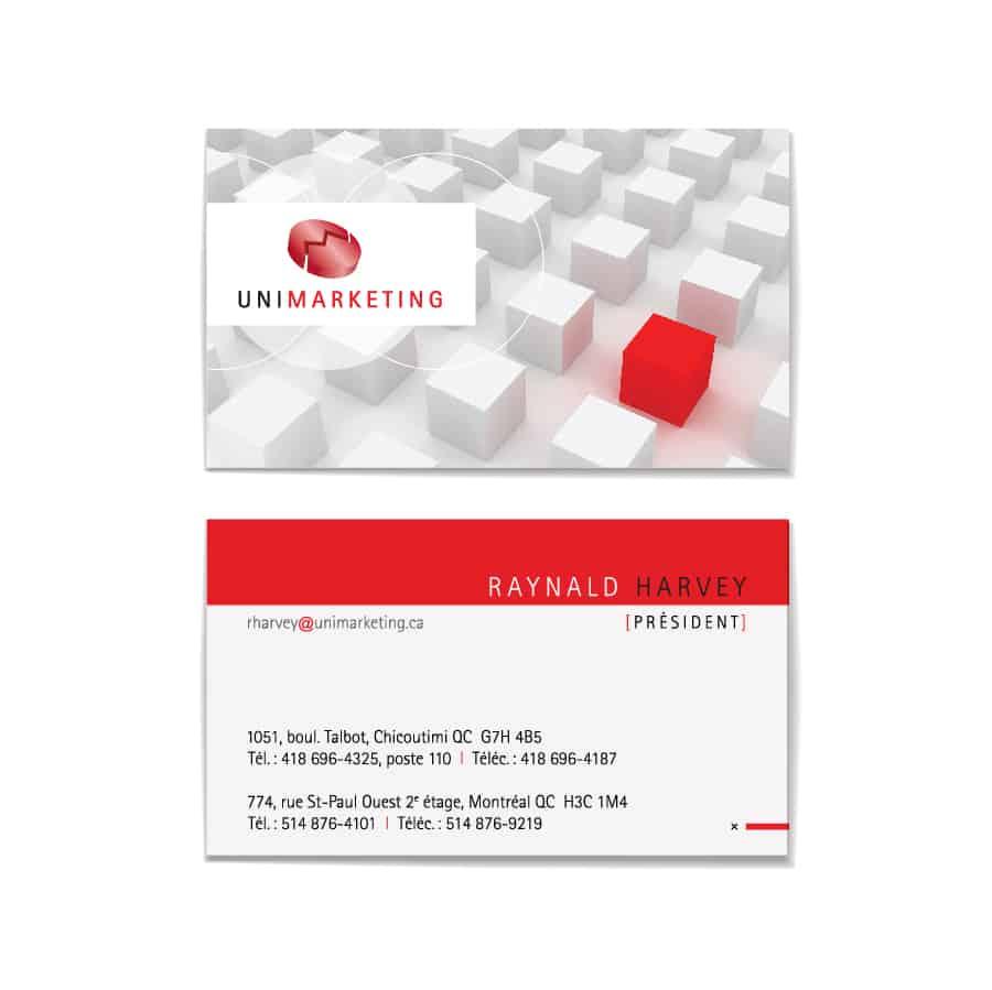 Carte professionnelle pour UniMarketing